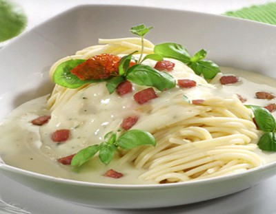 Спагетти с пенкой