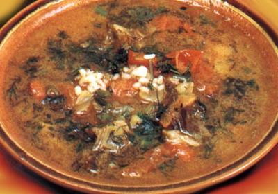 Харчо - национальное грузинское блюдо.