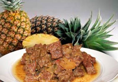 Жаркое с ананасом