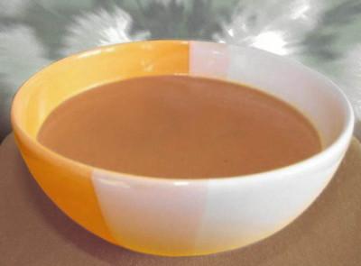 Хлебный суп-пюре с фруктами